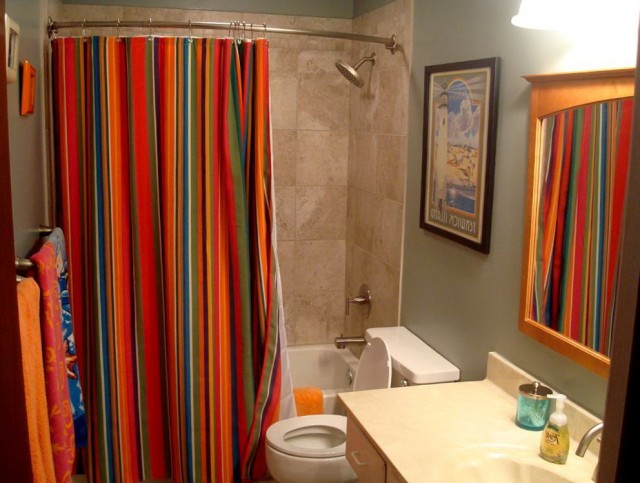 Fancy Bathroom Shower Curtains