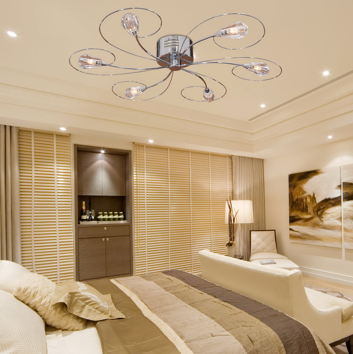 Flush Mount Ceiling Chandelier Home Design Ideas