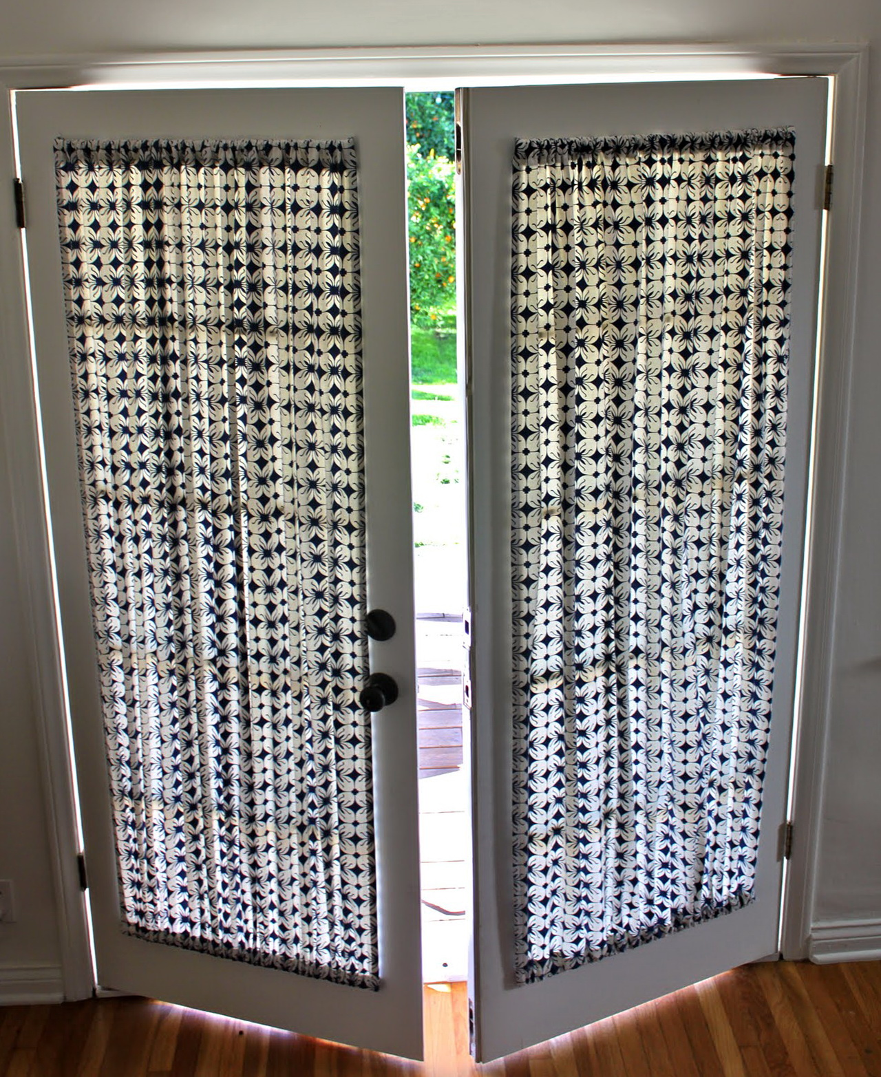 French door curtain panels home design ideas for 10 panel french door