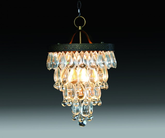 Glass Drop Round Chandelier
