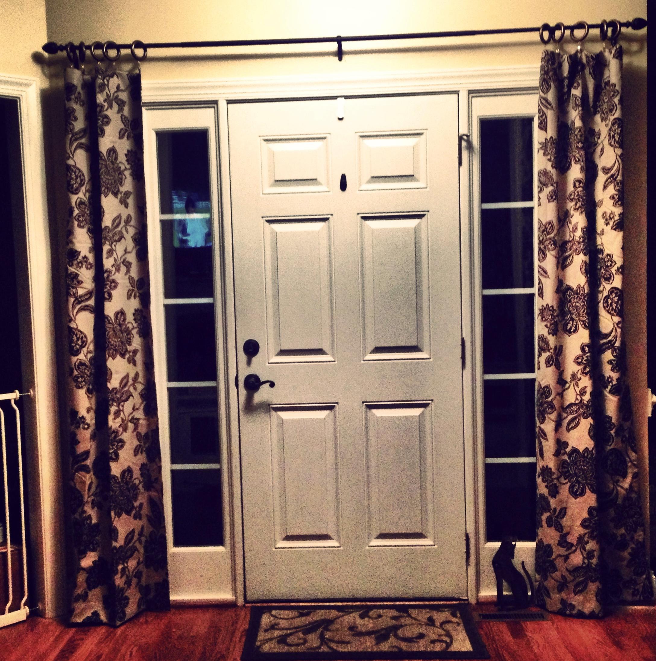 Glass Front Door Curtains