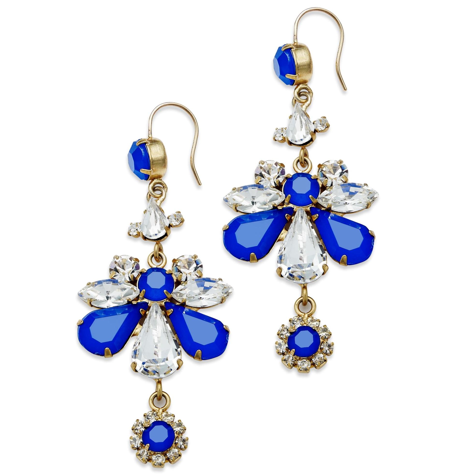 gold rhinestone chandelier earrings home design ideas