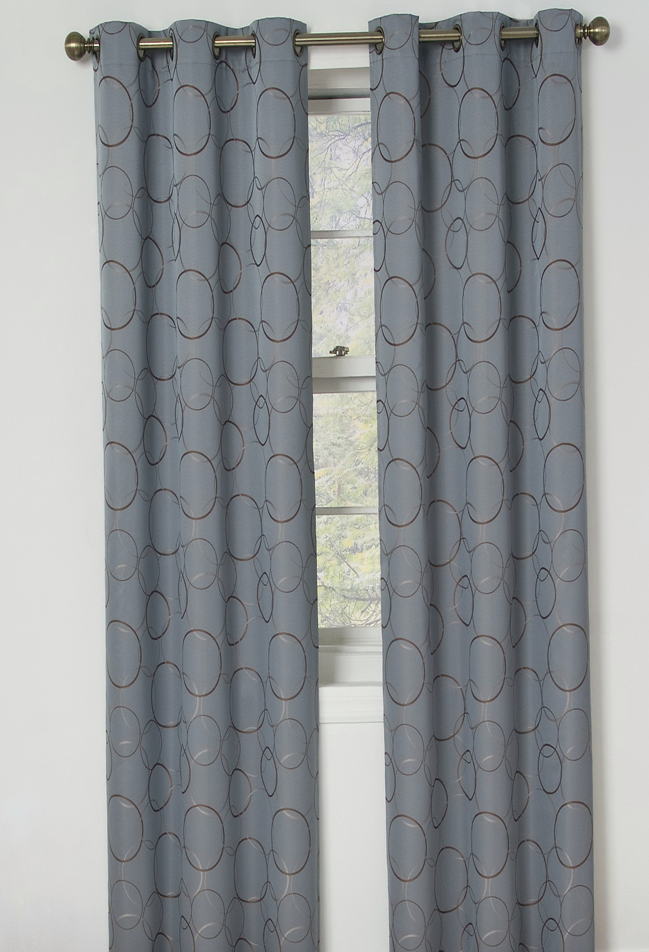 Gray Blackout Curtains Grommet