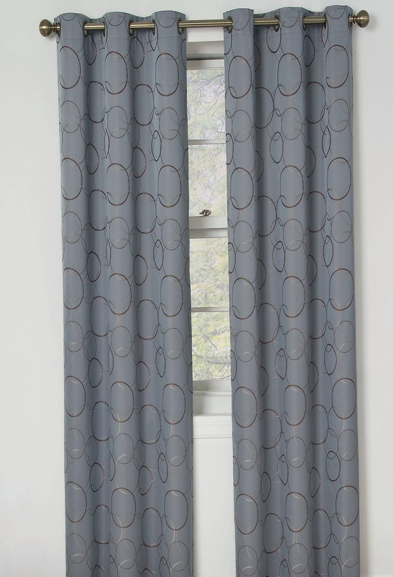 Grey Blackout Curtains Grommet Home Design Ideas