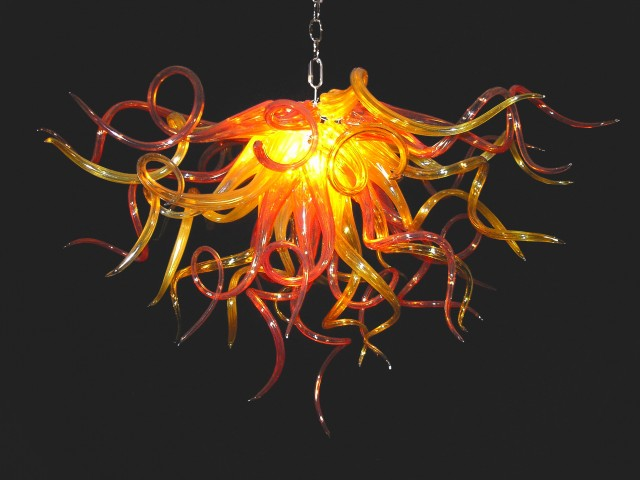 Hand Blown Glass Chandelier Parts