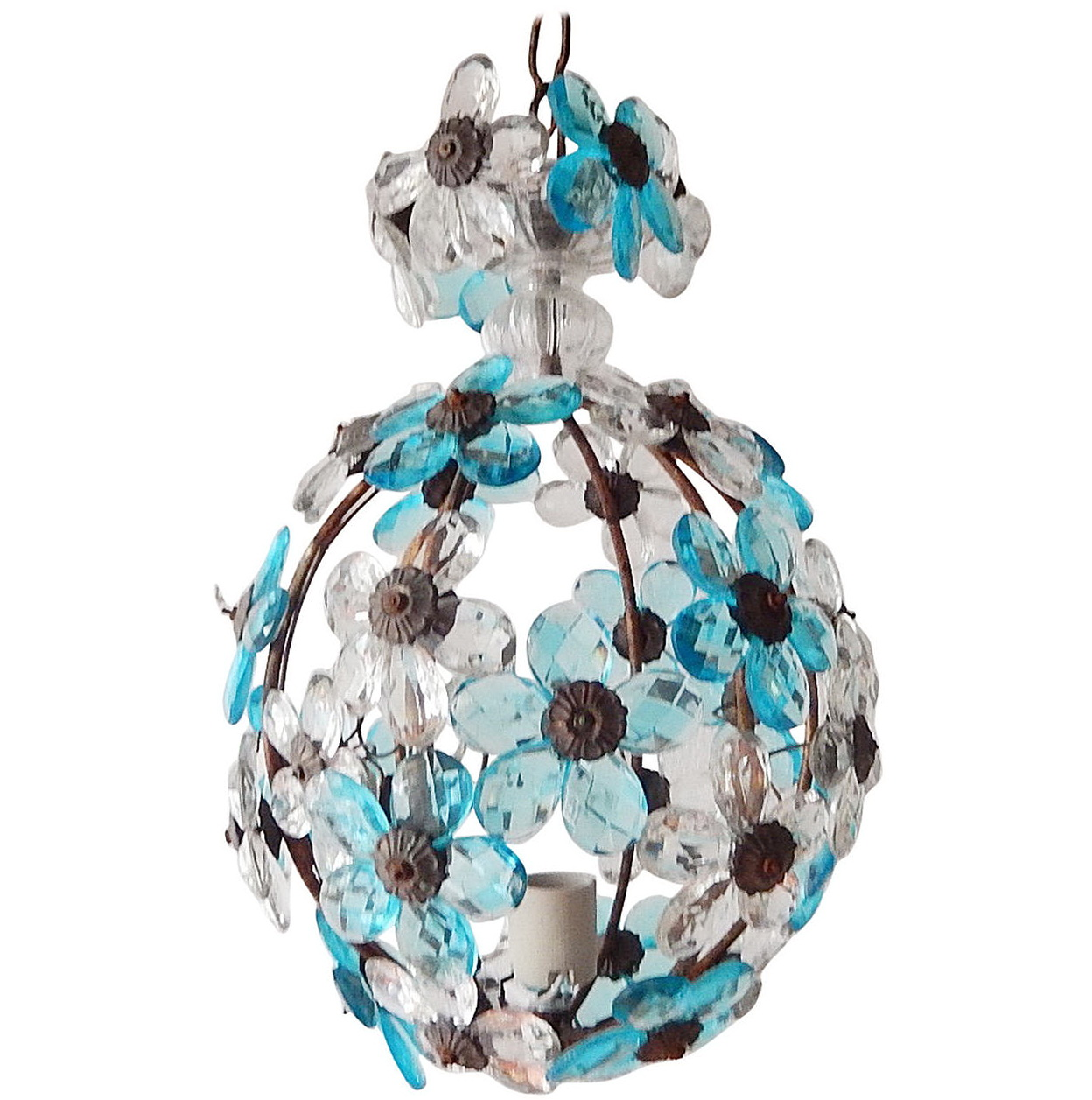 Hanging Crystal Ball Chandelier