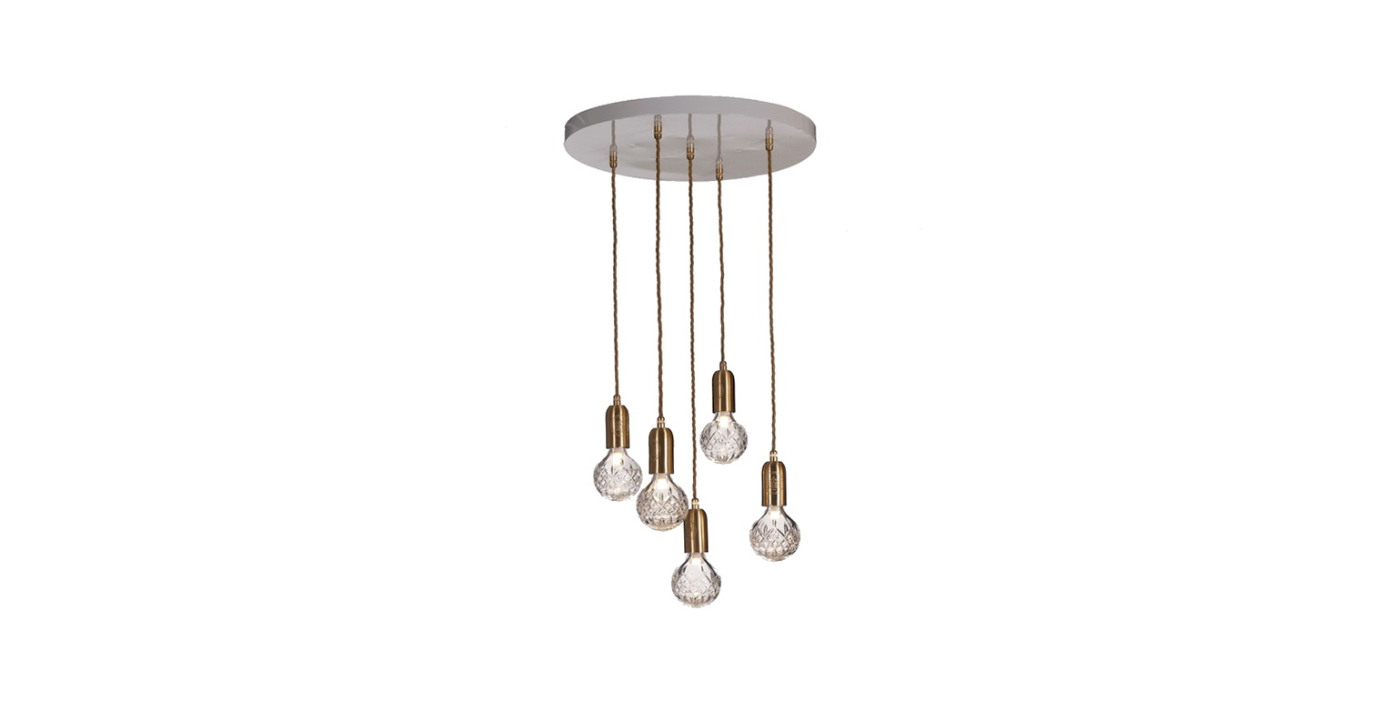 Hanging Light Bulb Chandelier