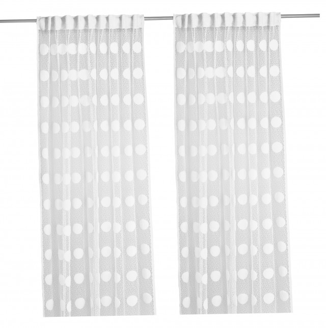 Ikea White Lace Curtains