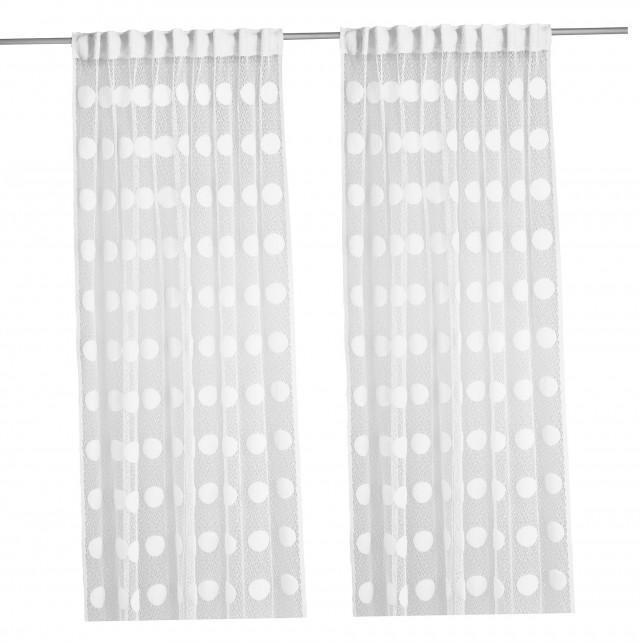 Ikea White Lace Curtains
