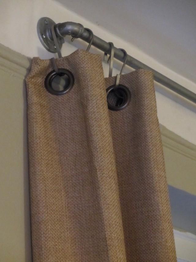Industrial Curtain Rods Diy