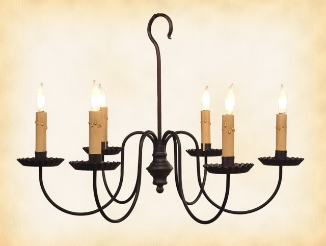 Iron Candle Chandelier Outdoor
