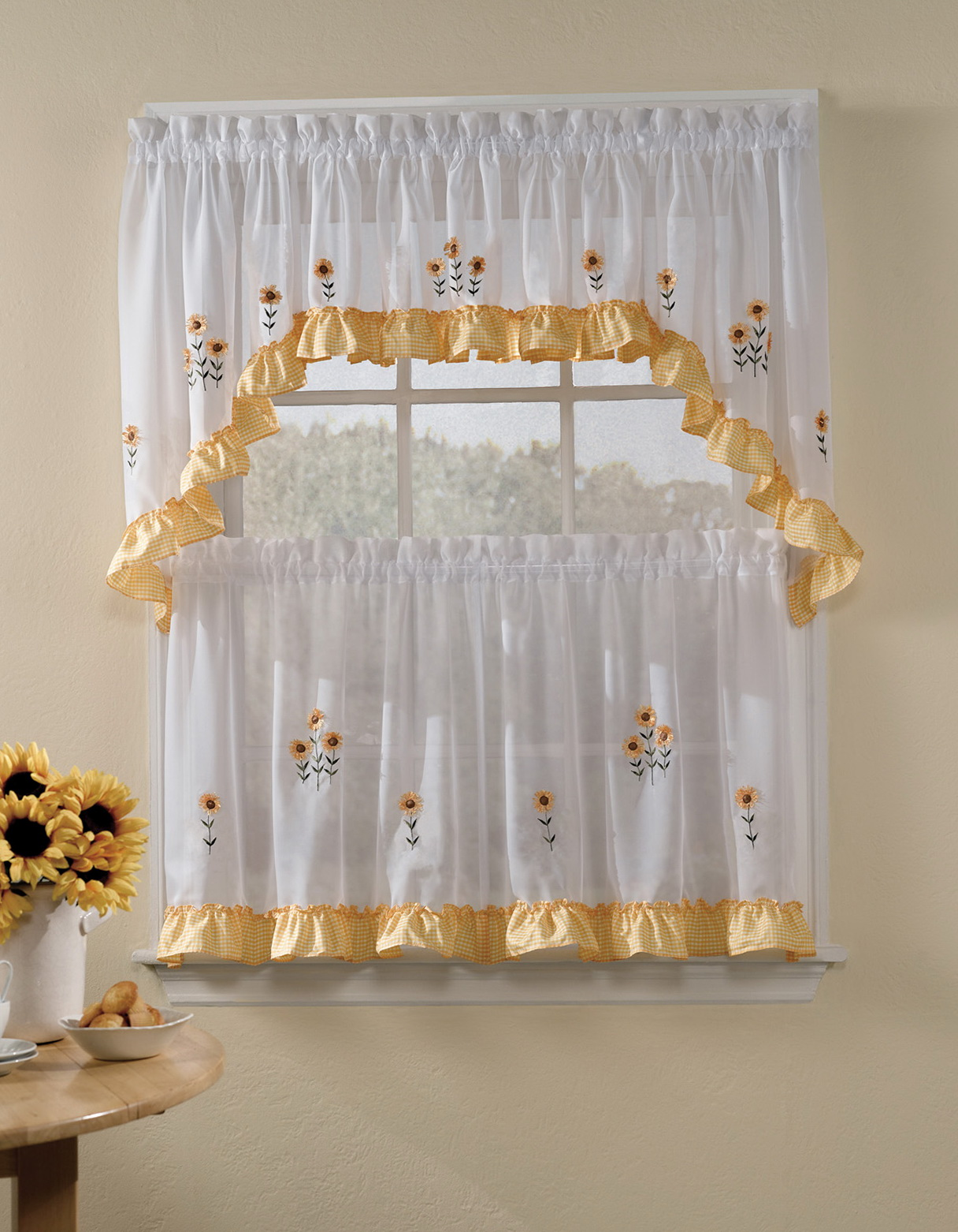 Kitchen curtains ideas pictures home design ideas - Kitchen valance ideas ...