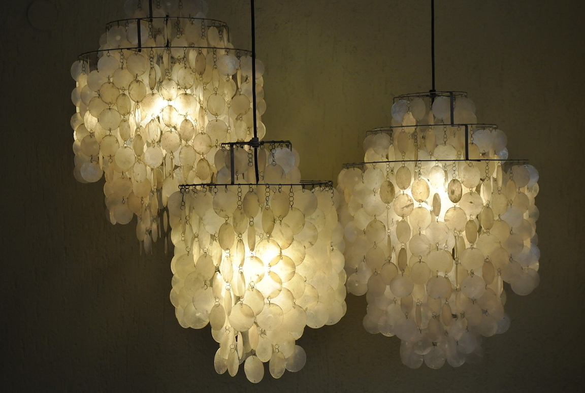 Large Capiz Shell Chandelier Home Design Ideas