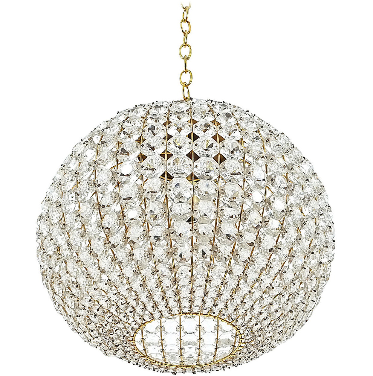 large crystal ball chandelier