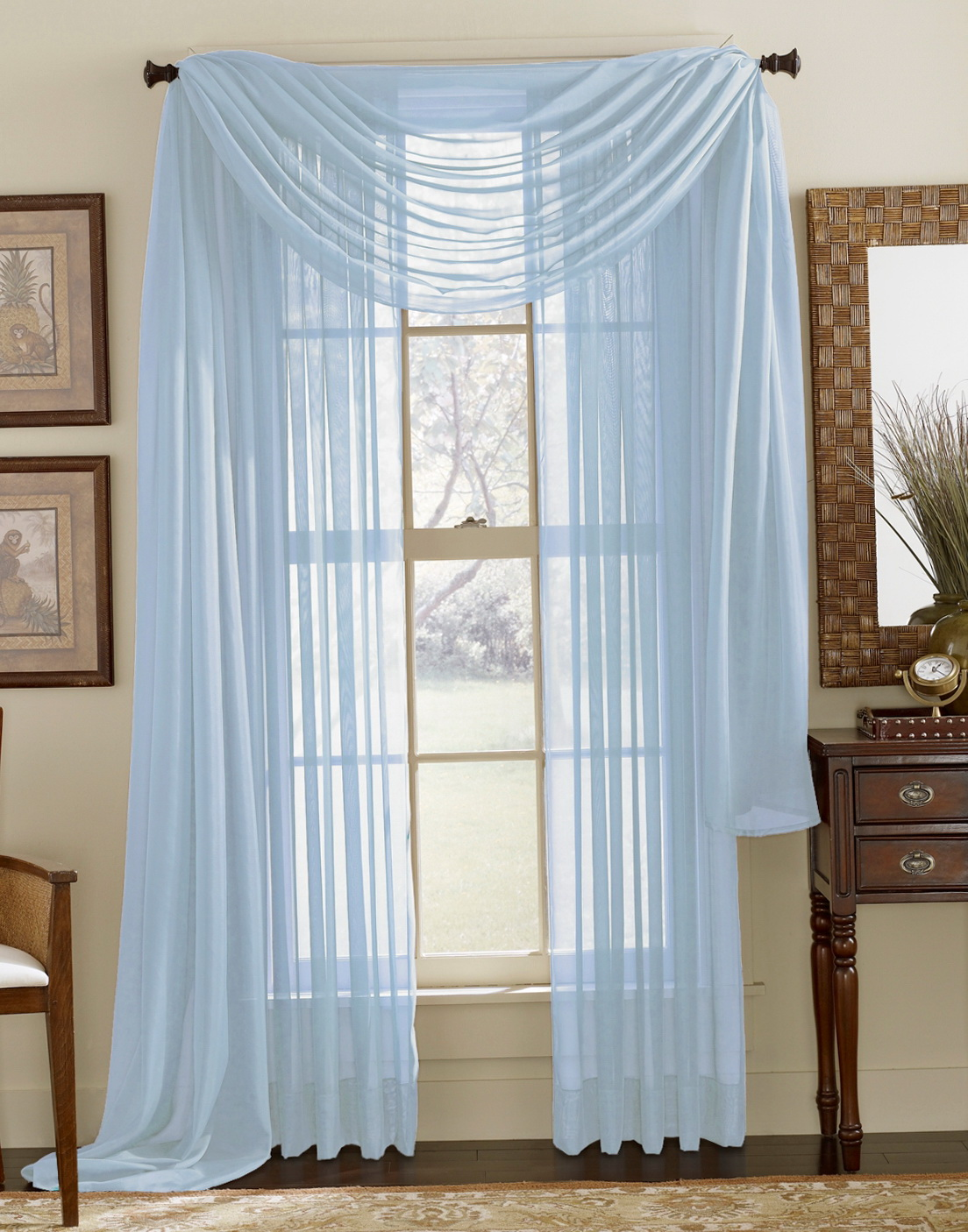 Light Blue Sheer Curtains Home Design Ideas