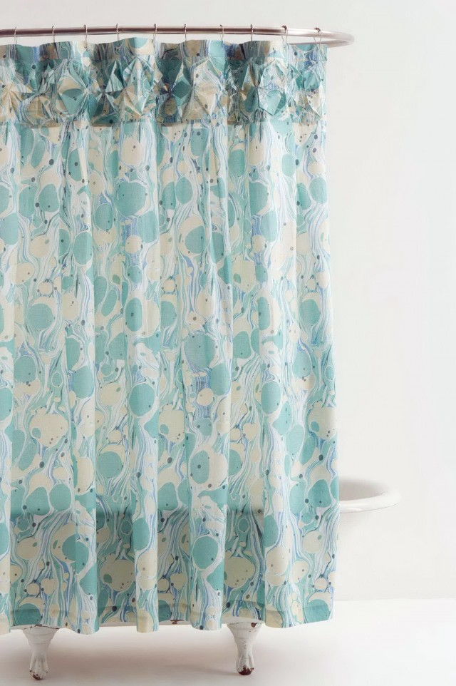 Light Blue Shower Curtains
