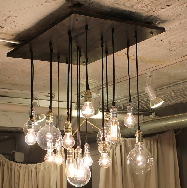Hanging light bulb chandelier home design ideas edison light bulb chandelier uk mozeypictures Image collections