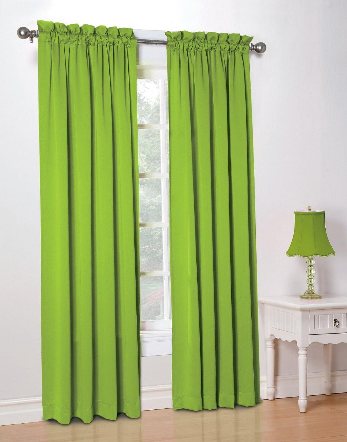 Lime Green Curtain Panels Home Design Ideas
