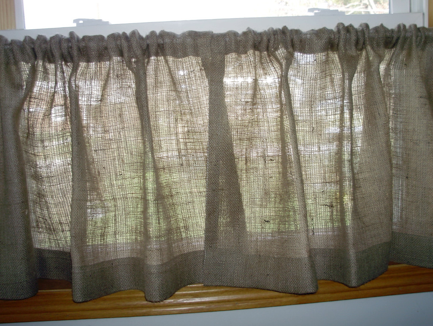 Linen Cafe Curtains For Kitchen