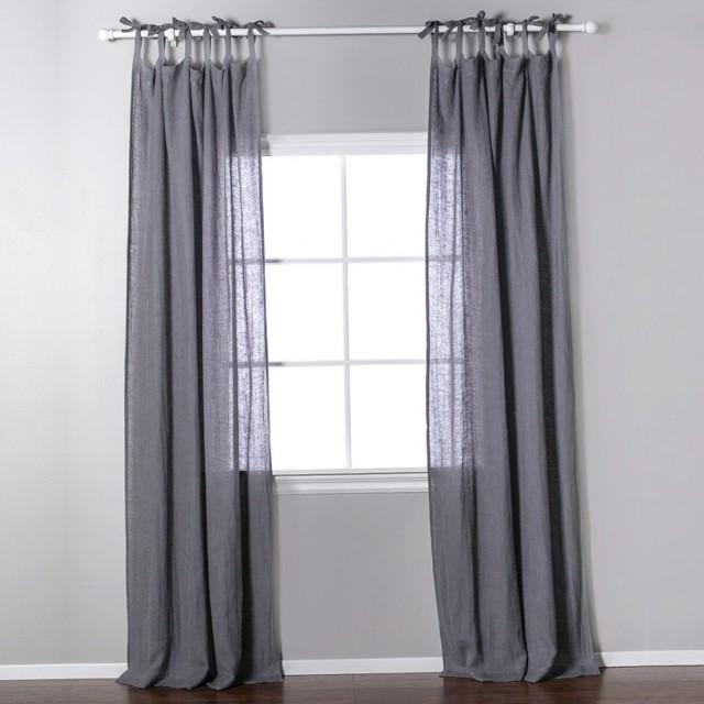 Linen Tie Top Curtains