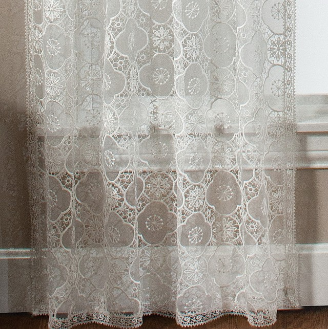 Macrame Lace Curtain Panels