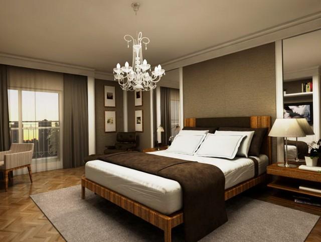 Mini Chandelier In Bedroom