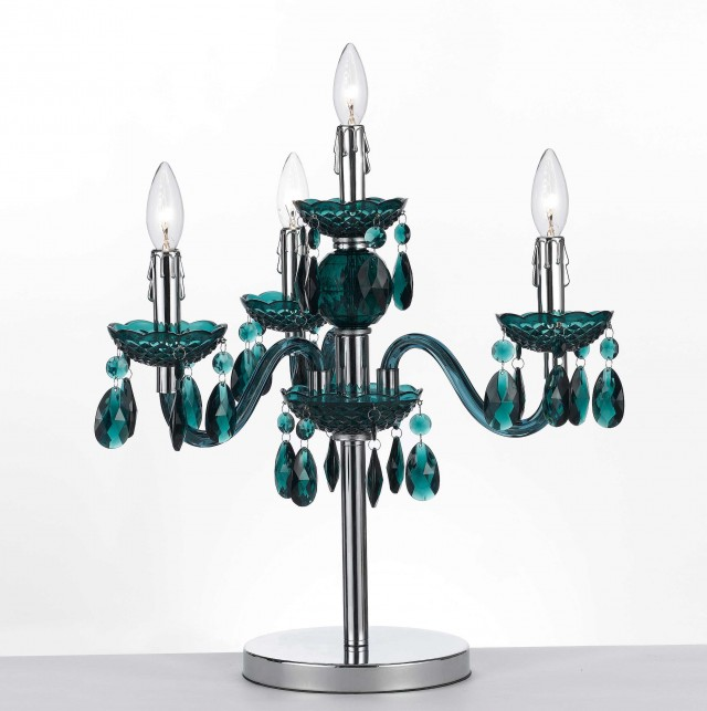 Mini Chandelier Table Lamp