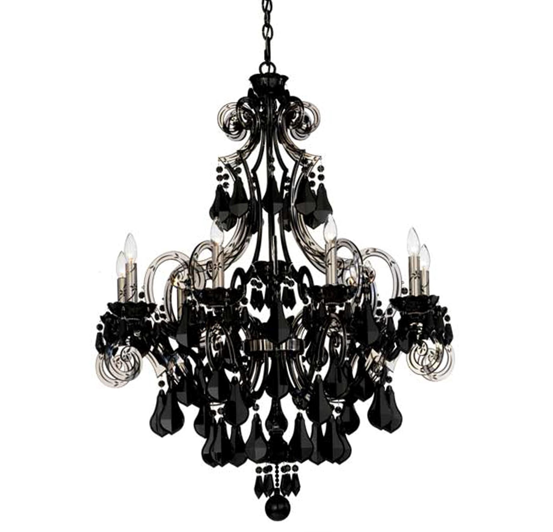 Modern Black Crystal Chandelier Home Design Ideas