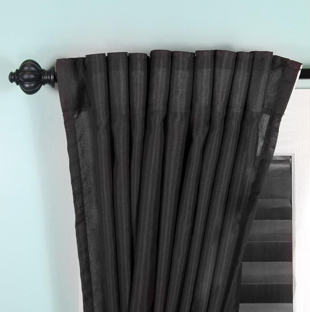 Modern Curtain Rods Black Home Design Ideas