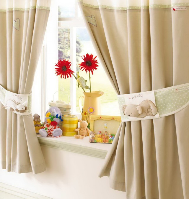 Modern Kids Room Curtains