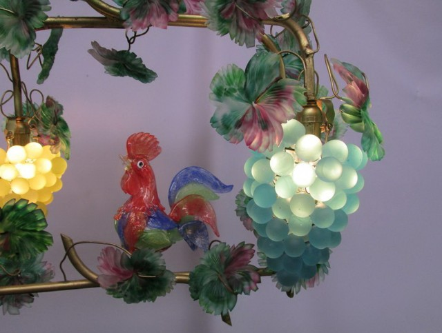 Murano Glass Chandelier With Fruit