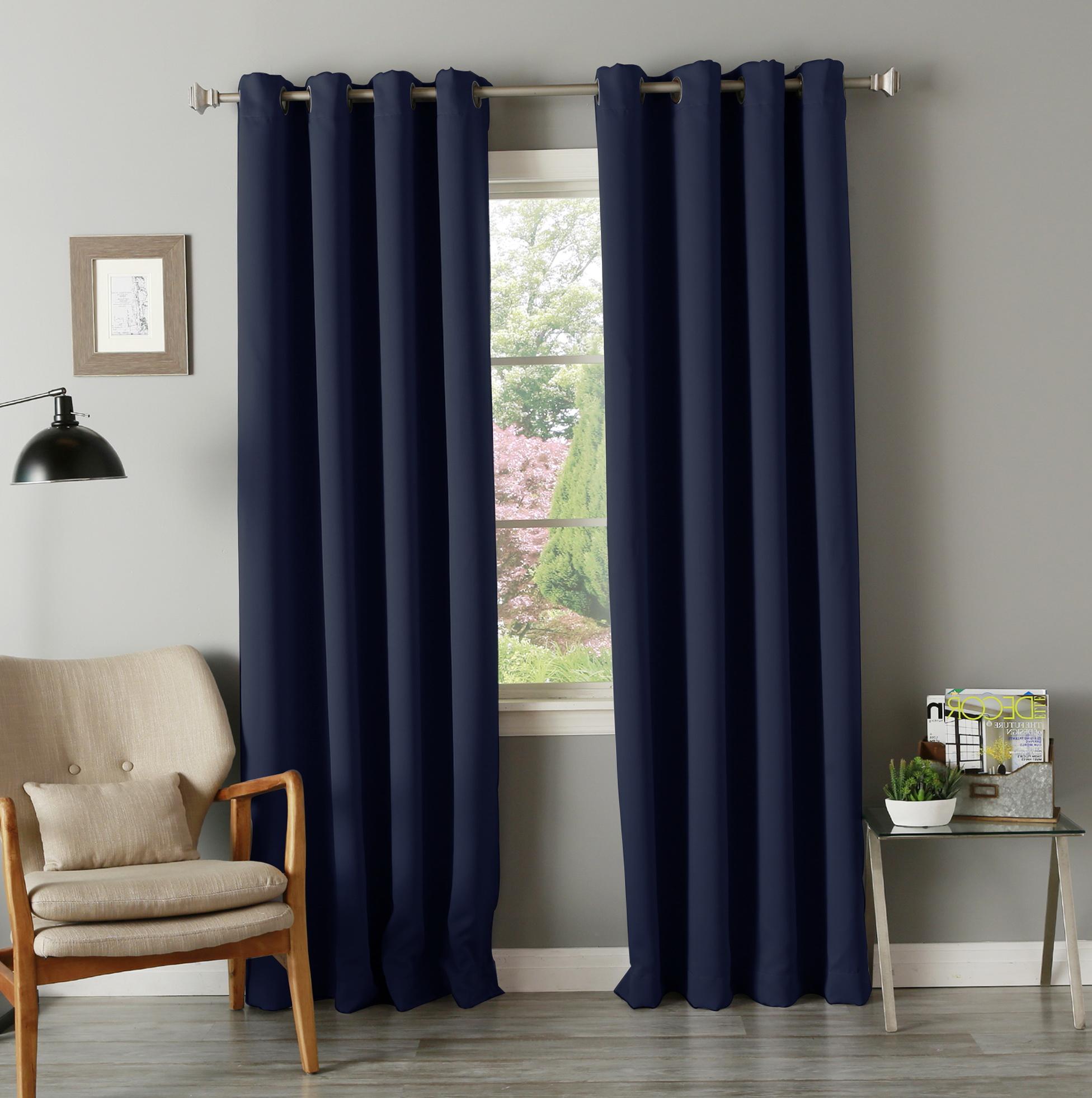 Navy Blackout Curtains 63 Home Design Ideas