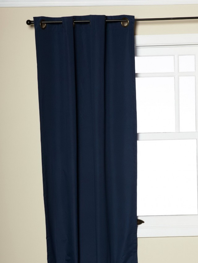 Navy Blackout Curtains 84
