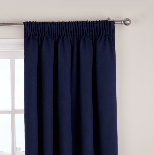 Navy Blackout Curtains Eyelet