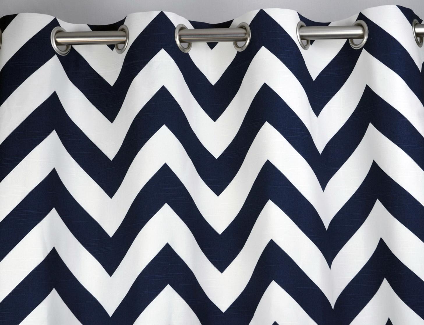 Navy Blue And White Chevron Curtains Home Design Ideas