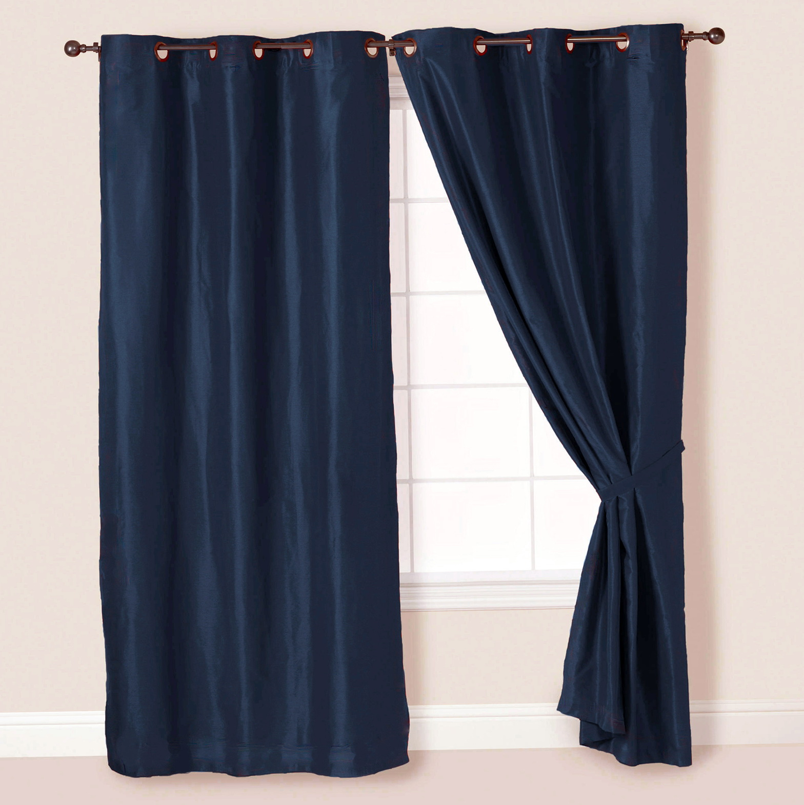 Navy Curtains With Grommets Home Design Ideas
