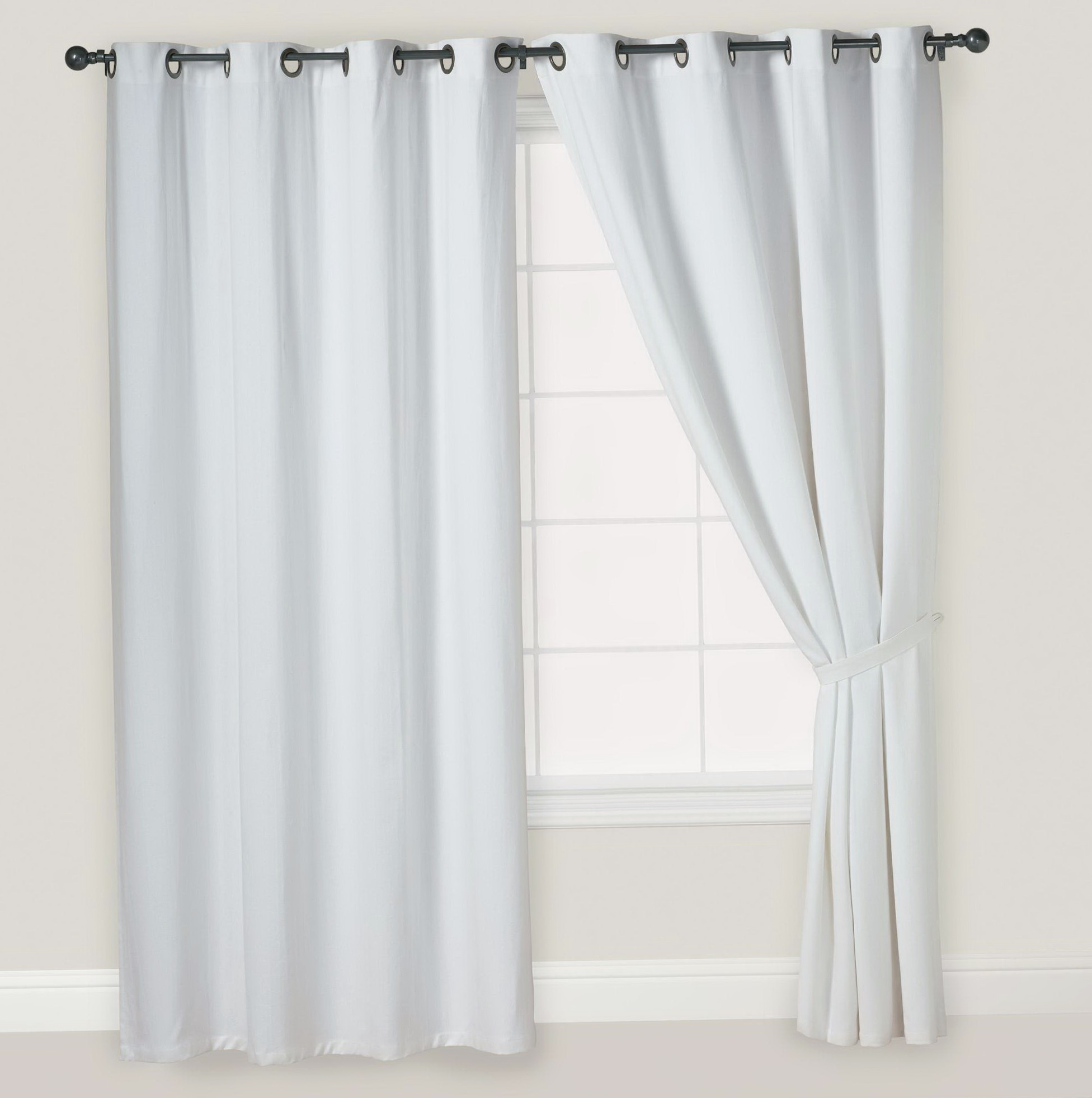 Off White And Black Curtains