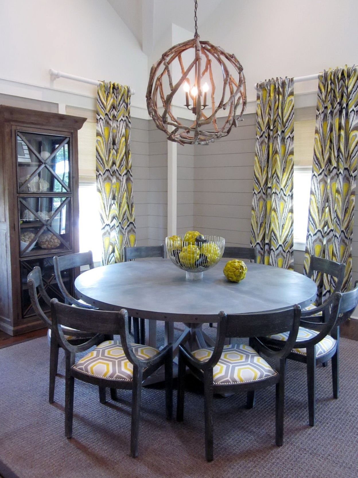 orb chandelier dining room home design ideas