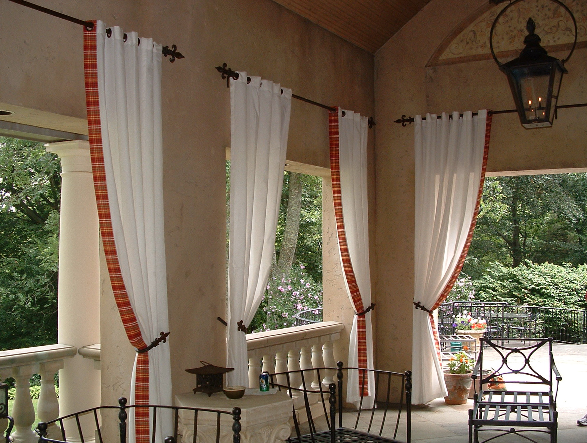 Outdoor Curtain Rod Ideas Home Design Ideas