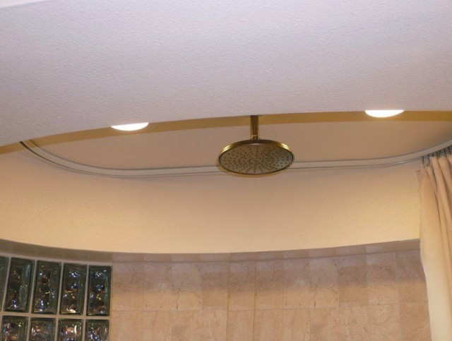 Oval Shower Curtain Rod Ceiling Mount
