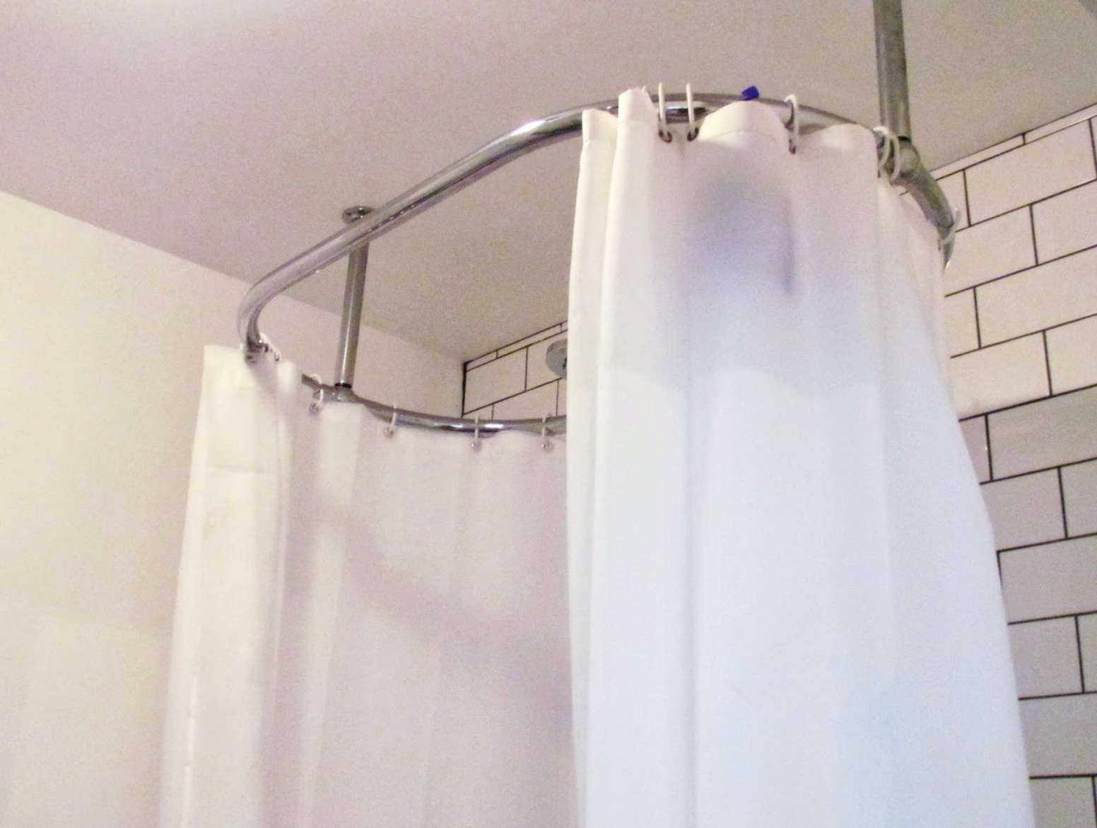 Oval Shower Curtain Rod Diy