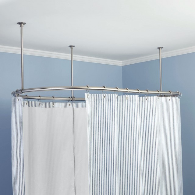 Adjustable Shower Curtain Rod Home Depot | Home Design Ideas