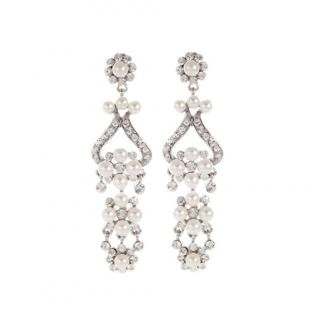 Pearl Chandelier Earrings Wedding