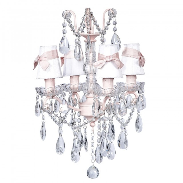 Pink Crystal Chandelier Light