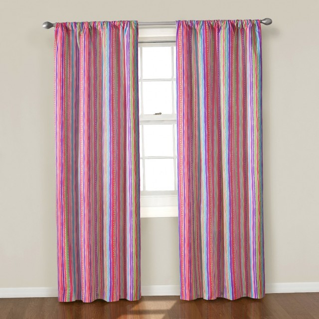 Pink Grommet Curtain Panels