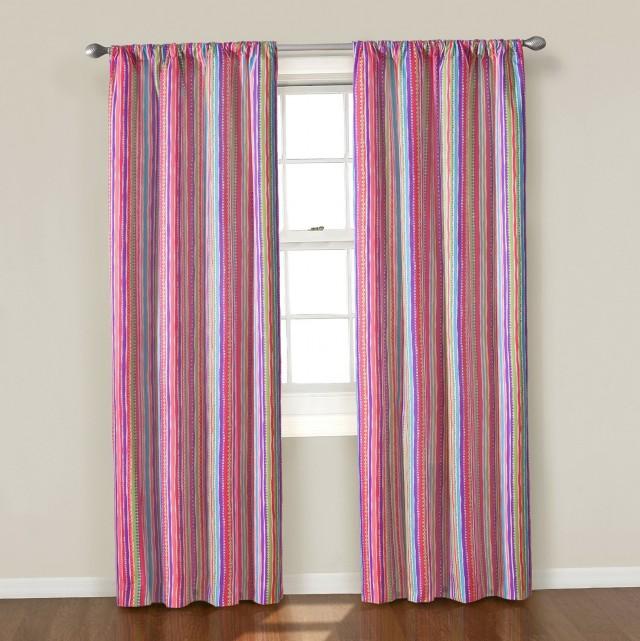 Pink Grommet Curtain Panels