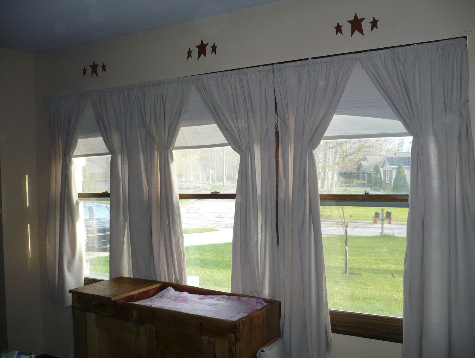 Primitive Curtains For Large Windows Home Design Ideas