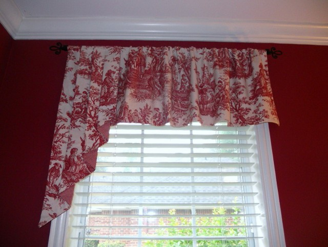 Red And White Curtains For Kitchen