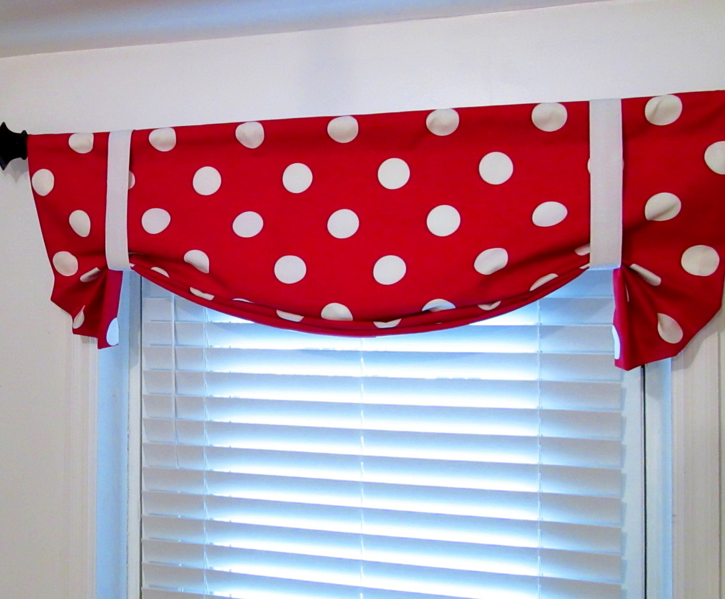 Red and white polka dot curtains home design ideas for Red and white polka dot decorations