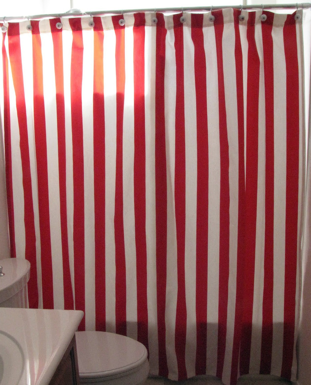 Red And White Striped Curtains Home Design Ideas